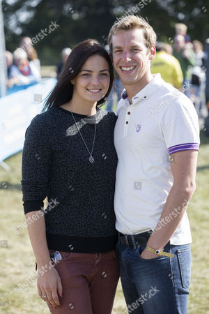 Stock Picture of British Olympic swimmer Keri-Anne Payne and partner David Carry.