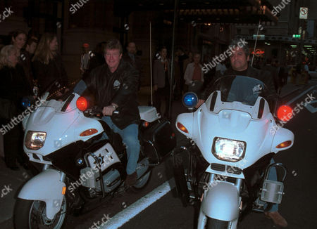 Stock Picture of LARRY WILCOX AND ERIK ESTRADA , AKA 'JON' AND 'PONCH' OF CHIPS FAME
