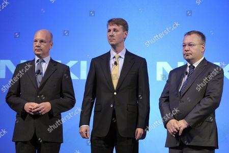 Timo Ihamuotila, Risto Siilasmaa and Stephen Elop