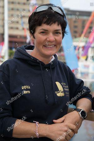 Ellen MacArthur at St Katharine Docks ahead of the official start