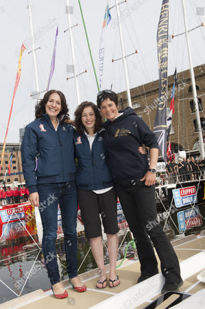Kirsty Morris, Ellen MacArthur and Kristie Reid