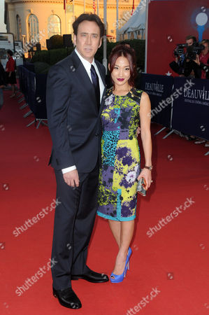 Nicolas Cage and his wife Alice Kim