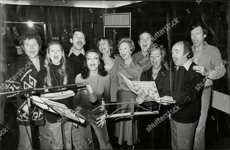 Cast Of Tv Series 'the Brothers' Recording A Christmas Album; Includes Jean Anderson Richard Easton Robin Chadwick Patrick O'connell Jennifer Wilson Derek Benfield And Colin Baker Kate O'mara And Liza Goddard.