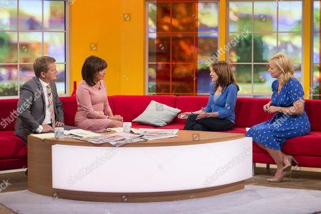 Aled Jones and Lorraine Kelly with Natasha Kingsley and Daisy McAndrew
