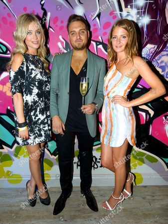 Laura Whitmore, Gerry Calabrese and Millie Mackintosh
