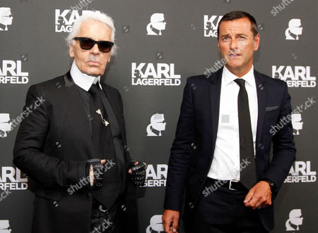 Karl Lagerfeld and Pier Paolo Righi