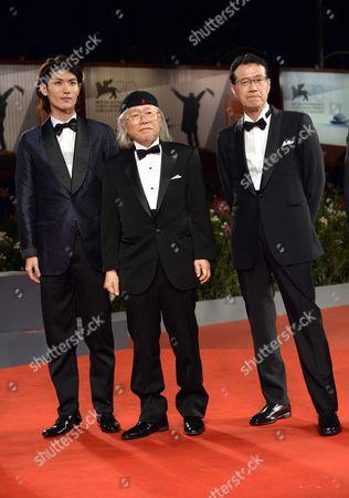 Stock Photo of Haruma Miura, Leiji Matsumoto, Aramaki Shinji