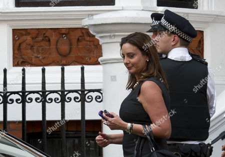 Stock Image of Ana Alban The Ecuadorean Ambassador To The Uk Leaving The Ecuadorean Embassy Today After The Ecuadorian Government Decided To Give Wikileaks Founder Julian Assange Asylum Against Extradition To Sweden Yesterday.  17/08/2012.