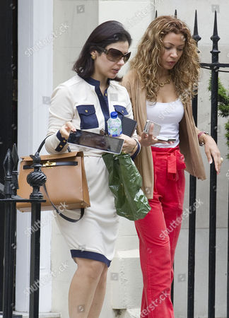 Editorial image of Picture Shows Nur Nadir (sunglasses) Leaving Home In London W1 Today. Wife Of Jailed Businessman Asil Nadir.
