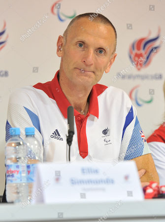 Editorial image of Paralympics Gbs Chef De Mission Craig Hunter During The Paralympic Games Press Conference In Paralympic Gb House Stratford. London Uk 27/08/2012 Picture By Georgie Gillard London 2012 Paralympic Games.