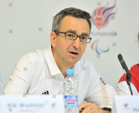 Stock Photo of London 2012 Paralympic Games Paralympicsgb Uk Sport Chief Operating Officer Tim Hollingsworth At The Paralympic Games Press Conference In Paralympicgb House Stratford.