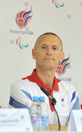 London 2012 Paralympic Games Paralympicsgb Chef De Mission Craig Hunter During The Paralympic Games Press Conference In Paralympicgb House Stratford.