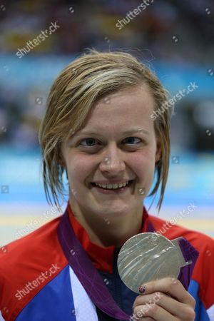 Hannah Russell Winning Silver In The Womens 400m Freestyle August 30th.2012. Paralym Games 2012 Stratford London.aquatics Centre.