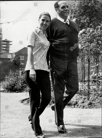 Editorial image of Edmundo Ros The Bandleader With His Wife Susan Barbara Smith Outside Their St Johns Wood Park Flat.