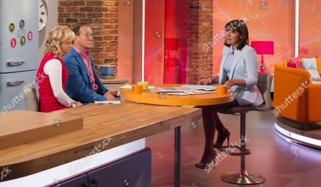 Jane Martinson and Michael Portillo with Lorraine Kelly