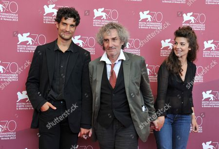 Louis Garrel, Philippe Garrel and Esther Garrel
