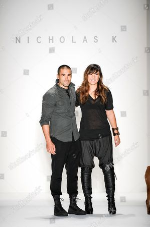 Stock Picture of Nicholas K designers Christopher Kunz and Nicholas Kunz