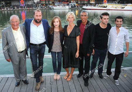 Elie Lison, Francois Damiens, Isabelle Huppert, Sandrine Kiberlain, Samy Naceri, Serge Bozon and Aymen Saidi