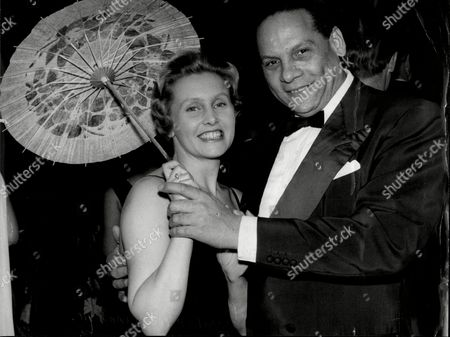 Edmundo Ros The Latin American Band Leader With His Wife.