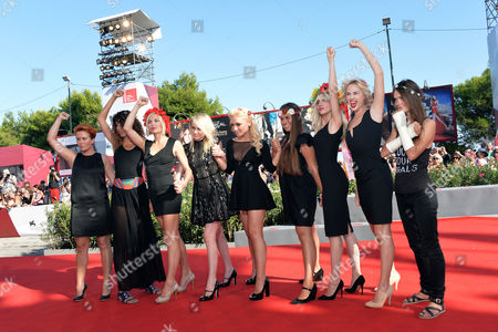 Director Kitty Green, Inna Shevchenko, Sasha Shevchenko and Femen Activists
