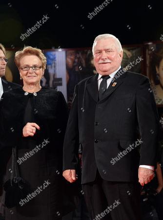 Lech Walesa and wife Danuta
