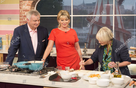 Eamonn Holmes and Ruth Langsford with Lesley Waters