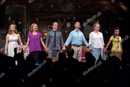 Editorial image of 'Vanya and Sonia and Masha and Spike' Closing Night Curtain Call, New York, America - 26 Aug 2013