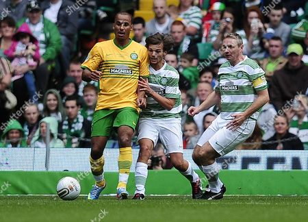 One Direction's Louis Tomlinson challenges Gabriel Agbonlahor