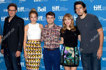 Elan Mastai, Megan Park, Daniel Radcliffe, Zoe Kazan and Adam Driver