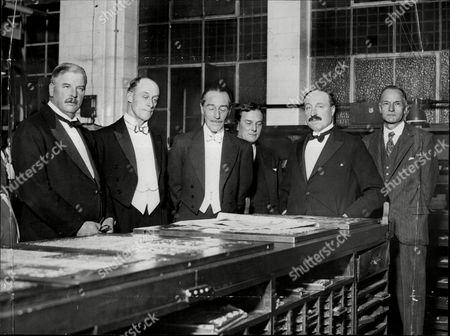 Jacob Fitzjames Stuart 17th Duke Of Alba (centre) At Northcliffe House With Cecil Harmsworth Mr W.g. Fish And Sir George Sutton Don Jacobo Fitz-james Stuart Y Falca 17th Duke Of Alba De Tormes Grandee Of Spain (madrid Spain 17 October 1878 - Lausanne Switzerland 24 September 1953) Was A Spanish Noble Diplomat Politician And Art Collector. He Was One Of The Most Important Aristocrats Of His Time And Held Among Other Titles The Dukedoms Of Alba De Tormes And Berwick The Countship Of Lemos Leran And Montijo And The Marquessate Of Carpio. He Was Also A Knight Of The Order Of The Golden Fleece Of Spain In 1926.