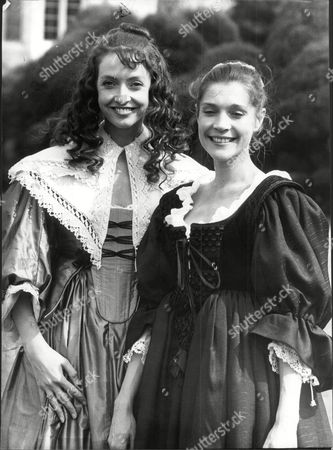 Tv Programme 'by The Sword Divided' (1983) - Sharon Maughan (l) And Judy Buxton.