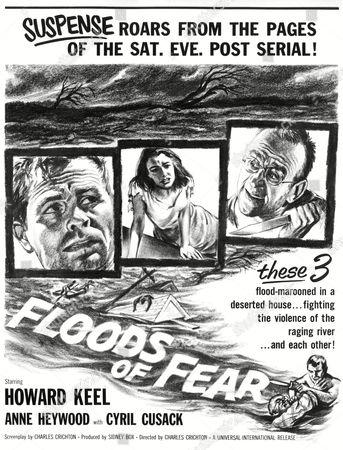 FLOODS OF FEAR, Howard Keel, Anne Heywood, Cyril Cusack, 1959