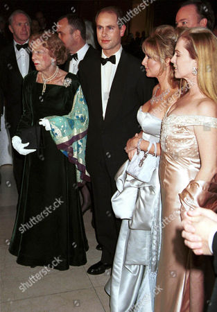 PRINCE EDWARD WITH BROOKE ASTOR AND KATHY HILTON AND ANNE HEARST