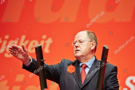The SPD candidate for chancellor, Peer Steinbruck