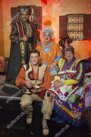 Stock Image of David Bedella, Oliver Thornton, Jo Brand and Matthew Kelly