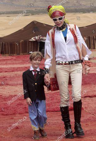 Princess Kalina of Bulgaria and her son Prince Simeon Hassan