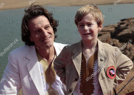 Spanish explorer Kitin Munoz with his son Prince Simeon Hassan