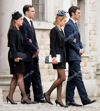 Stock Picture of Alice and Nicholas Van Cutsem, Hugh Van Cutsem and wife Rose Astor