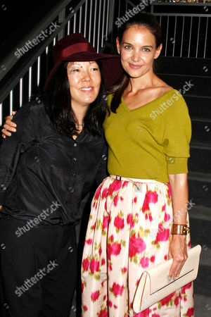 Jeanne Yang and Katie Holmes, designers for Holmes & Yang
