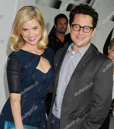 Alice Eve and J J Abrams