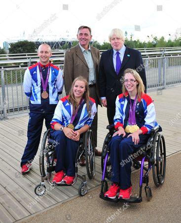 Sir Robin Andrew Wales Mayor of Newham, Boris Johnson, Ben Quilter, Hannah Cockroft, Sophie Christiansen