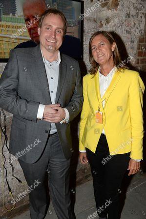 Stock Image of Mark Newton, European head of Nokia Marketing and Brand and Marieta del Rivero, Head of Telefonica Global Marketing