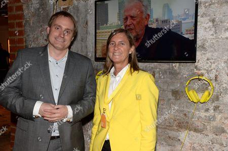 Mark Newton, European head of Nokia Marketing and Brand and Marieta del Rivero, Head of Telefonica Global Marketing