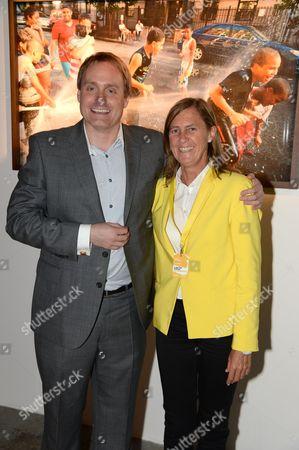 Stock Photo of Mark Newton, European head of Nokia Marketing and Brand and Marieta del Rivero, Head of Telefonica Global Marketing