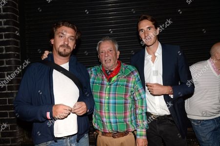 Mike Trow, David Bailey and Otis Ferry