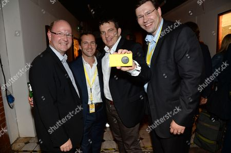 Stock Picture of Florian Seiche VP Sales Nokia Europe, Conor Pierce VP and General Manager of Nokia UK & Ireland, Greig Williams GM Nokia Spain and guest