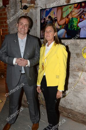 Stock Picture of Mark Newton, European head of Nokia Marketing and Brand and Marieta del Rivero, Head of Telefonica Global Marketing