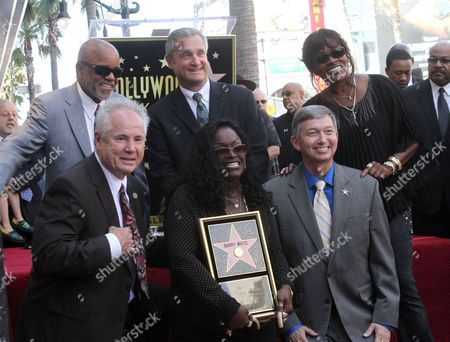 Berry Gordy and Glodean White, Leron Gubler and guests