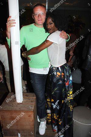 Stock Image of Giles Deacon and Taiye Selasi