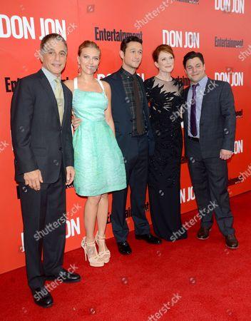 Cast of 'Don Jon' - Tony Danza, Scarlett Johansson, Joseph Gordon-Levitt, Julianne Moore, Jeremy Luke